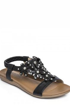 Needthatstyle - Black Diamante Flower Sandal, £15.00 (http://www.needthatstyle.com/black-diamante-flower-sandal/)