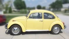My second Car  ....  I moved up to used 40HP and a cool yellow for  $900