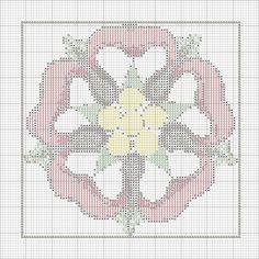 pretty Tudor rose cross stitch