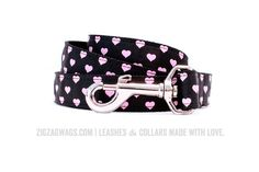 The Happy Hearts collection has quickly become our all-time favorite! These leashes and collars are just adorable, and with two colors to choose from, they are perfect for dogs with light or dark coats … and who love to look pretty! This 6′ long x 1″ inch wide dog leash features an adorable pattern perfect for your favorite fur baby.