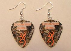Country Girl Mossy Oak Camo with orange browning by featherpick, $6.00