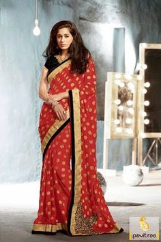 Pavitraa #Maroon with #Black Designer #Embroidery #Sarees
