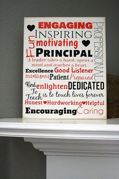 Principal - Teacher - Subway Art Wood Sign - Teacher Appreciation - Classroom - Classroom Decor - Educator - School - Present - Gift Principal Appreciation, Principal Gifts, Appreciation Quotes, Teacher Appreciation Gifts, Teacher Gifts, Principal Ideas, Teacher Presents, Teacher Binder, Teacher Subway Art