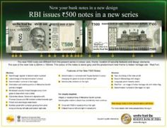 Their has been a change of Currency in India the Ruling government Bjp has changed the the denominations of 500 and 1000 Rupee Notes in India it was done to New Series, Notes, Report Cards