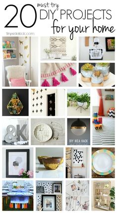 A great collection of some really fun and easy ways to DIY your way to an amazing home!