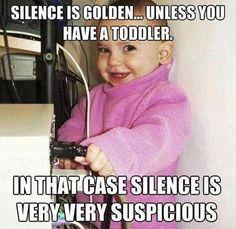Silence is not always golden.