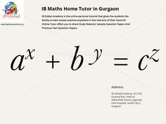 Ib Maths Home Tuition in Delhi & Gurgaon