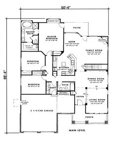 First Floor Plan Of Bungalow Craftsman Traditional House 24257