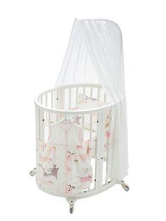 Round crib/bassinet <3Stokke Sleepi™ Mini 4pc Bedding Set