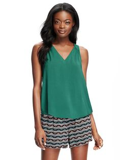 V-Neck Cut-Out Tank for Women Product Image