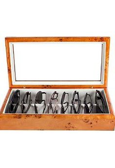 Keep your eyewear organized and safe with the Eyewear Organizer that fits easily into any closet and comes in three handsome finishes.