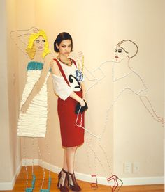 cross-stitched fashion ads by Inge Jacobsen