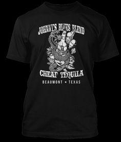 JOHNNY WINTER T-shirt inspiriert von CHEAP TEQUILA Texas