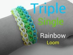 Triple-Single Rainbow Loom Bracelet - YouTube