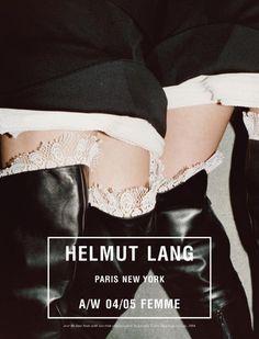 Helmut Lang 2004 by Juergen Teller. Very sexy! Fashion Words, Ad Fashion, Minimal Fashion, Editorial Fashion, Fashion Design, Fashion Brands, Helmut Lang, Juergen Teller, Fashion Advertising