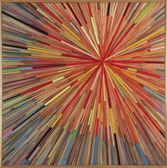 sliced pencil crayons by David Poppie