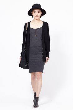 Raquel Allegra Layering Tank Dress (Black)