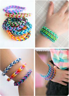Bracciali elastico - di Craft & Creatività