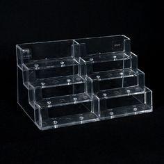 TARJETERO DE OCHO UNIDADES - Tarjetero de ocho niveles completamente transparente. Una sola medida. Ice Cube Trays, Display Stands, See Through, Card Holder, Diy, Ice Makers