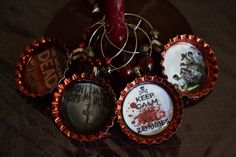 The Walking Dead Wine Charm Set by YourSweetEscape on Etsy, $15.00