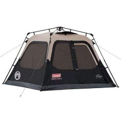 Buy Coleman Outdoor Family Camping 4 Person 8 x 7 Foot Waterproof Instant Cabin Tent at Wish - Shopping Made Fun Camping Set Up, Best Tents For Camping, Cool Tents, Tent Camping, Camping Gear, Outdoor Camping, Glamping, Outdoor Gear, Camping Cabins