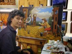 Michael Cheval (born Mikhail Khokhlachev, Russian: Михаил Хохлачев; 1966, in Kotelnikovo, Russia, Soviet Union) is a contemporary artist specializing in Absurdist paintings, drawings and portraits. He is the co-founder of Cheval Fine Art Inc. and currently resides in New Jersey, USA. His work is internationally acclaimed and has been exhibited regularly in galleries across the USA , Europe,Turkmenistan and Russia.
