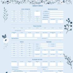 Character Sheet Writing, Character Reference Sheet, Writing Characters, Character Profile Template, Character Sheet Template, Book Writing Template, Book Writing Tips, Free Characters, Emotional Connection