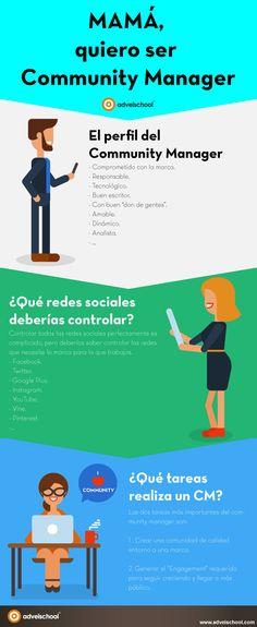 MAMÁ, quiero ser Community Manager para gestionar marcas en redes sociales, crear comunidades de éxito y generar engagement.