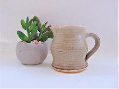 Cornish Pottery Stoneware Cream Jug Old Mills Helston British Regional Pottery