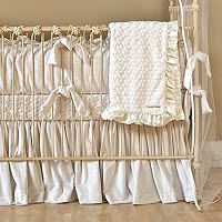Gray Cream Nursery Bedding Neutral Color Crib Baby Decor