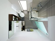 Aménagement d'une petite salle de bain moderne