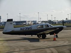 """Picture of Maggie, the Mooney, taken by a planespotter in Cairns/Australia. Around the world in 80 days with a small airplane. Book of Johannes Burges: """"360 Grad westwärts - Im Propellerflugzeug in 80 Tagen um die Welt"""" http://360grad.burges.de/planespotter"""