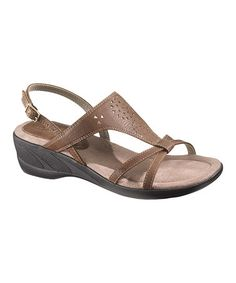 Take a look at this Mid Brown Tempe Sandal - Women by Soft Style by Hush Puppies on #zulily today!