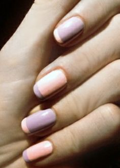 Peach pink and lavender french