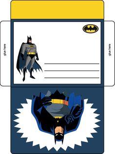 Batman birthday party envelope