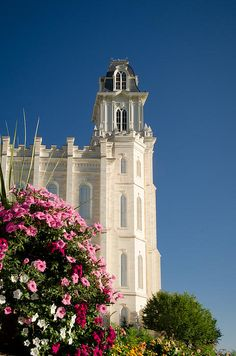 Manti, Utah, LDS (Mormon) Temple - It is a beautiful temple set up on a hill.