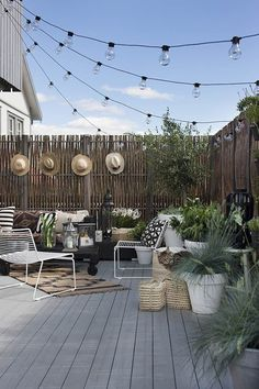 String Lights | Backyard Ideas for Small Yards To DIY This Spring