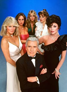 Featuring Joan Collins, Linda Evans, John Forsythe, Diahann Carroll and others. Best 80s Tv Shows, 80 Tv Shows, Favorite Tv Shows, Movies And Tv Shows, Joan Collins, V Drama, Dynasty Tv Show, Dynasty Actors, Der Denver Clan