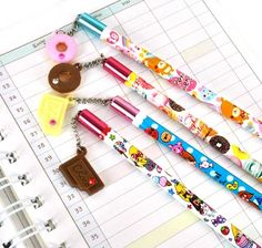 Don't settle for plain wooden pencils. Opt for cute designs and charms that are as special as you!