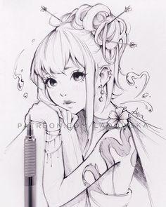 Новости art dibujos a lapis, dibujos a lapicero и bocetos. Anime Drawings Sketches, Anime Sketch, Manga Drawing, Manga Art, Cute Drawings, Anime Art Fantasy, Illustrations, Illustration Art, Desenhos League Of Legends