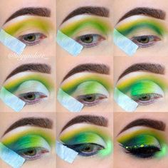 Gorgeous Makeup: Tips and Tricks With Eye Makeup and Eyeshadow – Makeup Design Ideas Eye Makeup Glitter, Blue Eye Makeup, Mac Makeup, Makeup For Brown Eyes, Eyeshadow Makeup, Makeup Art, Eyeshadows, Yellow Eyeshadow, Makeup Primer