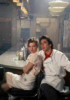 Michelle Pfeiffer, Al Pacino | Frankie and Johnny | food in movies                                                                                                                                                     More