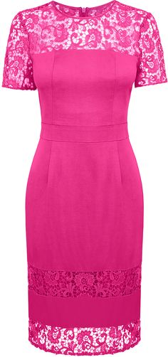 Womens magenta dress from Oasis - £20 at ClothingByColour.com