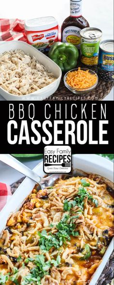 My Kids LOVE this BBQ Chicken Casserole! It is a super easy dinner and can even be made with leftover shredded chicken or rotisserie chicken. Love this kid friendly recipe! with rotisserie chicken easy Shredded BBQ Chicken Casserole · Easy Family Recipes Easy Family Meals, Quick Meals, Family Recipes, Quick Casseroles, Easy Dinners For Kids, Family Bbq, Meals For Two, Healthy Chicken Recipes, Cooking Recipes