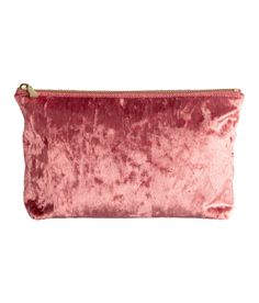 Check this out! Spacious makeup bag in shimmering fabric with a zip at top. Lined. Size 2 3/4 x 5 3/4 x 8 3/4 in. - Visit hm.com to see more.