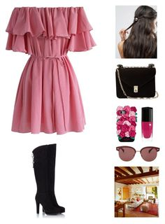 Untitled #817 by france247 on Polyvore featuring polyvore, fashion, style, Chicwish, Fratelli Karida, Valentino, ASOS, Kate Spade, Oliver Peoples, Lancôme and clothing