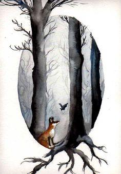 The Fairytale of Fox and Bat by Dasycneme.deviantart.com on @deviantART