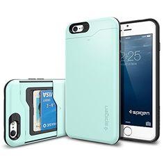 iPhone 6 Plus Case, Spigen® [Card Holder] iPhone 6 Plus (5.5) Case Wallet [Slim Armor CS] [Mint] With Card Holder Advanced Shock Absorption Protective Wallet Case for iPhone 6 Plus (5.5) (2014) - Mint (SGP10912) Spigen http://www.amazon.com/dp/B00JH83KC6/ref=cm_sw_r_pi_dp_X.weub04E7W5B