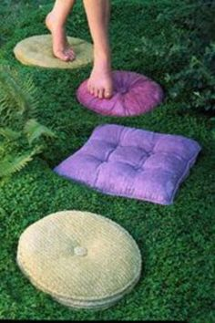 Pillow stepping stones