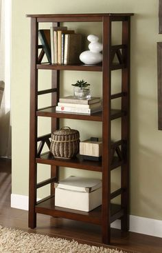 4 Shelf Bookcase Storage Bookshelves Home Office Furniture Pine Wood Organizer 4 Shelf Bookcase, Open Bookcase, Pine Shelves, Office Bookshelves, Antique Bookcase, Bookshelf Storage, Home Office Furniture, Furniture Ideas, Ideas